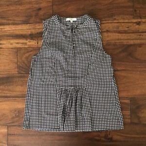 Madewell Gingham Sleeveless Blouse XS